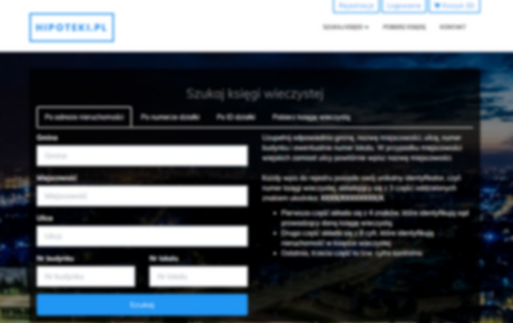 hipoteki.pl - księgi wieczyste online